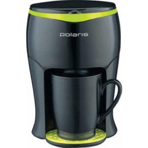 Кофеварка капельная Polaris PCM0109 350Вт черный / салатовый